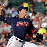 Cleveland Indians starting pitcher Ubaldo Jimenez delivers against the Kansas City Royals in the second inning of a baseball game Tuesday, June 18, 2013, in Cleveland. (AP Photo/Mark Duncan)