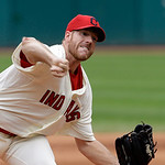 Cleveland Indians starting pitcher Zach McAllister delivers against the Tampa Bay Rays in the first inning of the MLB American League baseball game Sunday, June 2, 2013, in Cleveland. (AP Ph …