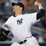 New York Yankees starting pitcher Andy Pettitte delivers in the fifth inning of a baseball game against the Cleveland Indians at Yankee Stadium in New York, Monday, June 3, 2013.  (AP Photo/ …