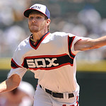 Chicago White Sox starter Chris Sale delivers a pitch during the first inning of a baseball game against the Cleveland Indians in Chicago, June 30, 2013. (AP Photo/Paul Beaty)