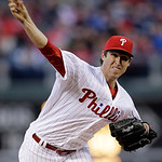 Philadelphia Phillies' Jonathan Pettibone pitches in the third inning of a baseball game against the Cleveland Indians, Tuesday, May 14, 2013, in Philadelphia. (AP Photo/Matt Slocum)