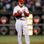 Philadelphia Phillies' Jonathan Papelbon in action during an interleague baseball game against the Cleveland Indians, Tuesday, May 14, 2013, in Philadelphia. (AP Photo/Matt Slocum)