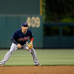 Cleveland Indians' Asdrubal Cabrera in action during an interleague baseball game against the Philadelphia Phillies, Tuesday, May 14, 2013, in Philadelphia. (AP Photo/Matt Slocum)