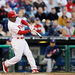 Philadelphia Phillies' Jimmy Rollins in action during an interleague baseball game against the Cleveland Indians, Tuesday, May 14, 2013, in Philadelphia. (AP Photo/Matt Slocum)