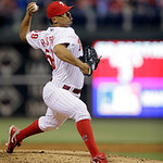Philadelphia Phillies' Antonio Bastardo in action during an interleague baseball game against the Cleveland Indians, Tuesday, May 14, 2013, in Philadelphia. (AP Photo/Matt Slocum)