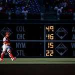 Philadelphia Phillies' Carlos Ruiz walks to the dugout before an interleague baseball game against the Cleveland Indians, Tuesday, May 14, 2013, in Philadelphia. (AP Photo/Matt Slocum)
