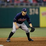 Cleveland Indians' Mark Reynolds in action during an interleague baseball game against the Philadelphia Phillies, Tuesday, May 14, 2013, in Philadelphia. (AP Photo/Matt Slocum)