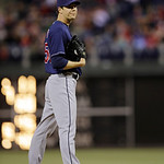 Cleveland Indians' Rich Hill in action during an interleague baseball game against the Philadelphia Phillies, Tuesday, May 14, 2013, in Philadelphia. (AP Photo/Matt Slocum)