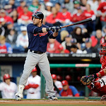 Cleveland Indians' Jason Kipnis in action during an interleague baseball game against the Philadelphia Phillies, Tuesday, May 14, 2013, in Philadelphia. (AP Photo/Matt Slocum)