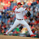 Philadelphia Phillies' Jonathan Pettibone pitches in the first inning of a baseball game against the Cleveland Indians, Tuesday, May 14, 2013, in Philadelphia. (AP Photo/Matt Slocum)