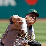 Oakland Athletics starting pitcher Bartolo Colon delivers against the Cleveland Indians in the first inning of a baseball game Thursday, May 9, 2013, in Cleveland. (AP Photo/Mark Duncan)