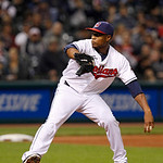 Cleveland Indians relief pitcher Tony Sipp pitches in a baseball game against the Chicago White Sox, Wednesday, Oct. 3, 2012, in Cleveland. (AP Photo/Tony Dejak)