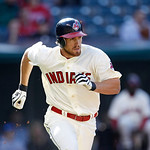 Cleveland Indians' Cord Phelps runs the bases in a baseball game against the Kansas City Royals, Sunday, Sept. 30, 2012, in Cleveland. (AP Photo/Tony Dejak)