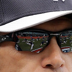 New York Yankees manager Joe Girardi watches his team stretch before the Yankees play the Cleveland Indians in a home opener baseball game, Monday, April 8, 2013, in Cleveland. (AP Photo/Ton …