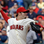 Cleveland Indians' Cody Allen pitches against the New York Yankees in a baseball game Monday, April 8, 2013, in Cleveland. (AP Photo/Mark Duncan)