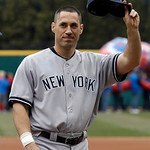 New York Yankees' Travis Hafner waves to fans as he is introduced before the Yankees play the Cleveland Indians in a home opener baseball game, Monday, April 8, 2013, in Cleveland. (AP Photo …