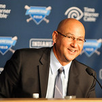New Cleveland Indians manager Terry Francona talks during a news conference at Progressive Field Monday, Oct. 8, 2012 in Cleveland. (AP Photo/David Richard)