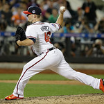 National League's Craig Kimbrel, of the Atlanta Braves, pitches during the eighth inning of the MLB All-Star baseball game, on Tuesday, July 16, 2013, in New York. (AP Photo/Matt Slocum)