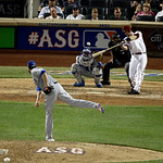 National League's Paul Goldschmidt, of the Arizona Diamondbacks, hits a double during the ninth inning in the MLB All-Star baseball game, on Tuesday, July 16, 2013, in New York. (AP Photo/ …