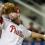 National League's Cliff Lee, of the Philadelphia Phillies, pitches during the fifth inning of the MLB All-Star baseball game, on Tuesday, July 16, 2013, in New York. (AP Photo/Matt Slocum)