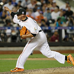 National League's Jose Fernandez, of the Miami Marlins, pitches during the sixth inning of the MLB All-Star baseball game, on Tuesday, July 16, 2013, in New York. (AP Photo/Matt Slocum)