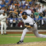 American League's Mariano Rivera, of the New York Yankees, throws during the eighth inning of the MLB All-Star baseball game, on Tuesday, July 16, 2013, in New York. (AP Photo/Matt Slocum)