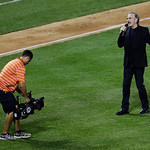 "Neil Diamond sings ""Sweet Caroline"" during the MLB All-Star baseball game, on Tuesday, July 16, 2013, in New York. (AP Photo/Julio Cortez)"