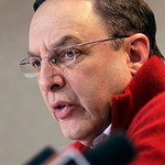 Cleveland Browns CEO Joe Banner discusses the first round of the NFL football draft at the team's practice facility in Berea, Ohio on Thursday, April 25, 2013. The Browns selected LSU lineba …