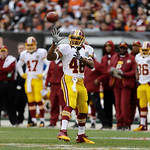 Washington Redskins running back Alfred Morris catches a pass during an NFL football game against the Cleveland Browns Sunday, Dec. 16, 2012, in Cleveland. (AP Photo/Tony Dejak)