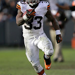 Cleveland Browns running back Trent Richardson (33) runs against the Oakland Raiders during the third quarter of an NFL football game in Oakland, Calif., Sunday, Dec. 2, 2012. (AP Photo/Marc …