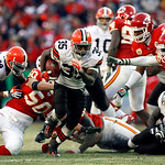 Cleveland Browns running back Jerome Harrison (35) breaks away for a 28-yard touchdown run during an NFL football game against the Kansas City Chiefs in the fourth quarter Sunday, Dec. 20, 2 …