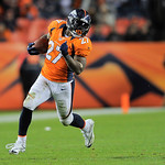 Denver Broncos running back Knowshon Moreno runs with the football during the second half against the Cleveland Browns during an NFL football game, Sunday, Dec. 23, 2012, in Denver. The Bron …