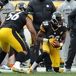 Pittsburgh Steelers cornerback Cortez Allen (28) recovers a fumble by Cleveland Browns wide receiver, Travis Benjamin, not pictured, during the fourth quarter of an NFL football game on Sund …
