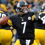 Pittsburgh Steelers quarterback Ben Roethlisberger (7) throws down field against the Cleveland Browns during the fourth quarter of an NFL football game on Sunday, Dec. 30, 2012, in Pittsburg …