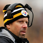 Pittsburgh Steelers offensive coordinator Todd Haley stands on the sidelines during the fourth quarter of an NFL football game against the Cleveland Browns in Pittsburgh, Sunday, Dec. 30, 20 …