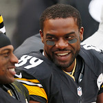 Pittsburgh Steelers wide receiver Jerricho Cotchery (89), and Pittsburgh Steelers wide receiver Emmanuel Sanders (88) talk on the sidelines during the fourth quarter of an NFL football game  …
