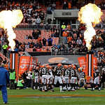 The Cleveland Browns takes the field for an  NFL football game against the Kansas City Chiefs Sunday, Dec. 9, 2012, in Cleveland. (AP Photo/Mark Duncan)