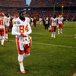 Kansas City Chiefs wide receiver Jamar Newsome (84) walks off the field after a 30-7 loss to the Cleveland Browns in an NFL football game Sunday, Dec. 9, 2012, in Cleveland. (AP Photo/Mark D …