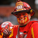 A Kansas City Chiefs fan reacts during an NFL football game between the Cleveland Browns and the Kansas City Chiefs Sunday, Dec. 9, 2012, in Cleveland. (AP Photo/Tony Dejak)