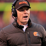 Cleveland Browns head coach Pat Shurmur reacts during an NFL football game against the Kansas City Chiefs Sunday, Dec. 9, 2012, in Cleveland. (AP Photo/Tony Dejak)
