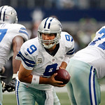 Dallas Cowboys quarterback Tony Romo (9) looks to hand off the ball during first half of an NFL football game agains the Cleveland Browns Sunday, Nov. 18, 2012 in Arlington, Texas. (AP Photo …