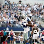 Dallas Cowboys wide receiver Dez Bryant (88) celebrates a catch during the second half of an NFL football game against the Cleveland Browns Sunday, Nov. 18, 2012 in Arlington, Texas. (AP Pho …