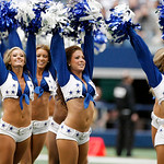 Dallas Cowboys cheerleaders perform before the start of the first half of an NFL football game against the Cleveland Browns Sunday, Nov. 18, 2012 in Arlington, Texas. (AP Photo/Brandon Wade)