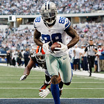 Cleveland Browns cornerback Sheldon Brown (24) is unable to stop Dallas Cowboys wide receiver Dez Bryant (88) from scoring a touchdown during the second half of an NFL football game Sunday,  …