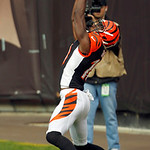 Cincinnati Bengals wide receiver A.J. Green catches a 5-yard touchdown pass in the second quarter of an NFL football game against the Cleveland Browns, Sunday, Oct. 14, 2012, in Cleveland. ( …
