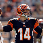 Cincinnati Bengals quarterback Andy Dalton passes in an NFL football game against the Cleveland Browns Sunday, Oct. 14, 2012, in Cleveland. (AP Photo/Tony Dejak)
