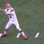 Cleveland Browns' Brandon Weeden throws during the second half of an NFL football game against the Indianapolis Colts Sunday, Oct. 21, 2012, in Indianapolis. (AP Photo/AJ Mast)