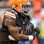Cleveland Browns running back Trent Richardson runs for nine yards against the San Diego Chargers in the third quarter of an NFL football game Sunday, Oct. 28, 2012, in Cleveland. (AP Photo/ …