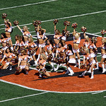 Cincinnati Bengals cheerleaders perform in the first half of an NFL football game against the Cleveland Browns, Sunday, Sept. 16, 2012, in Cincinnati. (AP Photo/Tom Uhlman)