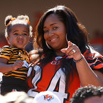 Cincinnati Bengals fans watch during an NFL football game against the Cleveland Browns, Sunday, Sept. 16, 2012, in Cincinnati. (AP Photo/David Kohl)